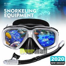 Anti-Fog Scuba Dive Mask Snorkel Gear Set Snorkeling Spearfishing Water Sports