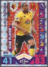 TOPPS MATCH ATTAX 2016-17- #324-WATFORD-ODION IGHALO-STAR PLAYER-SILVER FOIL