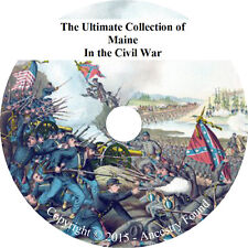 Maine in the Civil War - History & Genealogy - 48 books on DVD