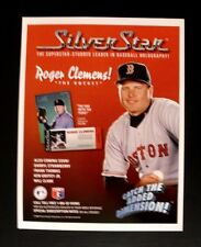 1992 Roger Clemens Red Sox{Blank Back Promo Sheet}Baseball Cards~Photo AD