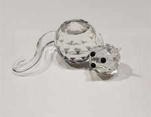 Crystal World Cut Glass Cat Figurine - 1738