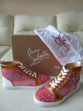 8d1d24b2d06b NEW Christian Louboutin Bip Bip Rantus Orlato Multi Strass High Top Sneaker  37.5
