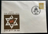 1993 Vilnius Lithuania First Day Cover FDC Holocaust Commemoration B