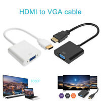 HDMI to VGA Adapter Connector Male To Famale Converter Cable 1080P for PC Laptop