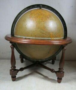 "Vintage/Antique 1948 Replogle Comprehensive 12"" World Stand Globe"