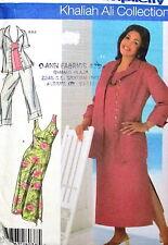 Khaliah Ali PLus size womens Misses pattern seperates sundress dress 18-24