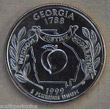 1999-D Uncirc. Georgia Statehood Quarter - Single