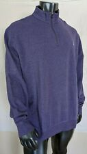 Polo Ralph Lauren 1/4 Zip Pullover Sweater Mens Sz 2XL Purple w/Pony $89 NWT
