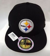 Pittsburgh Steelers Womens New Era 59Fifty Size 7 Toss Back Cap Hat