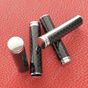 4x Carbon Fiber Interior Door Lock Knob Pins Handles for Auto Car Truck SUV