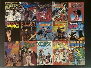 Early 80's Independent Comics Mixed Lot of 17 Books Eclipse Pacific Eternity