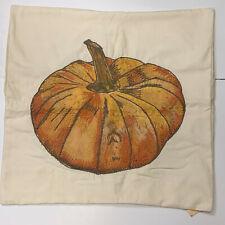 """Pottery Barn Fall Pumpkin Oversized Pumpkin Pillow Cover, 20"""", NEW"""