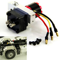 Metal Hydraulic Gear Pump + Valve for 1/14 RC Trailer Truck Modification Parts