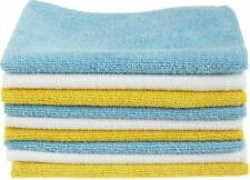 White and Yellow Microfiber Cleaning Cloth