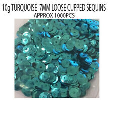1000pcs Turquoise 7mm Round Loose Cupped Sequins Sewing Wedding Art & Crafts