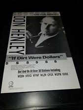 Don Henley If Dirt Were Dollars Rare Original Radio Promo Poster Ad Framed! #3