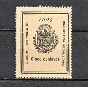 NNBF 348 EL SALVADOR 1904 TIMBRE MNG