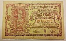 2 Frank/Francs  Type  Generale Maatschappij  16/11/1916  Belgique Belgïe