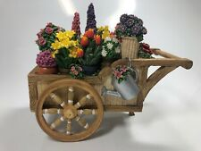 """1996 The Music Box Company Porcelain Flower Cart """"You Are My Sunshine"""" No Box"""