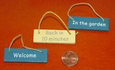 6136 - Miniatur-Schilder 3er-Set Aufhänger für Puppenhaus Puppenstube 1:12