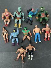 Vintage Original Mixed/Mattel Masters of the Universe He-Man Action Figure Lot