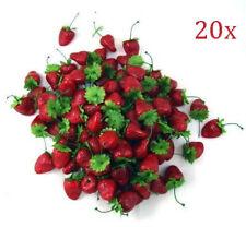 20pcs Mini strawberry fruit artificial imitation US Stock -UKSF