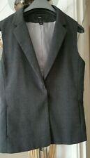 Popper Polyester V Neck Waistcoats for Women
