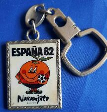 Keychain Key Ring Spain Espana Mundial 82 FIFA Football World Cup Naranjito