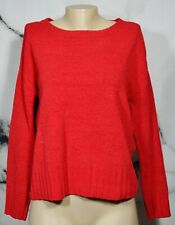 CHARTER CLUB PETITE Red Soft Knit Sweater PL Long Sleeves Polyester Cotton Rayon