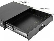 Server Cabinet Case Lockable Deep Drawer with Key 2U 19 Inch Rack Mount