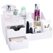 Makeup Vanity Organizer Cosmetic Jewelry Storage Box Drawer Case Holder White