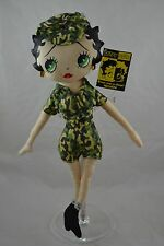 Betty Boop Plush With Tags and Stand Soldier Betty 18""