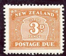 New Zealand 1939 KGVI Postage Due 3d orange-brown MLH. SG D44. Sc J25.