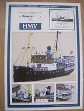 Boroysund Dampfschiff Schiff Kartonbausatz *NEU* Bastelbogen
