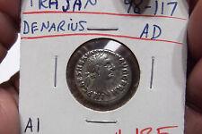 98-117 AD TRAJAN DENARIUS A1