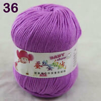 Sale 1 ball x50g Baby Cashmere Silk Wool Children hand knitting Crochet Yarn 36