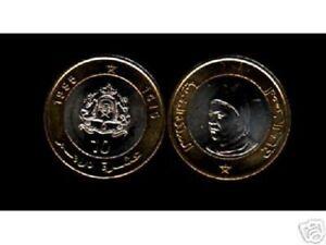 MOROCCO 10 DIRHAMS KM Y92 1995 x 10 Pcs Lot KING HASSAN BI METAL UNC AFRICA COIN