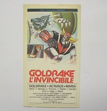 VECCHIO ADESIVO / Old Sticker GOLDRAKE L'INVINCIBILE robot gamberini (cm 7 x 12)