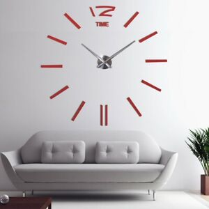 Wall Clock Modern Design Large Decorative Clock For Home Acrylic Wall Sticker