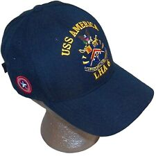 USS America LHA-6 Assault Ship Captain America Shield Navy Blue Baseball Hat Cap