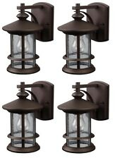 "4 Pack!! Oil Rubbed Bronze 9.75""H Outdoor Wall Light"