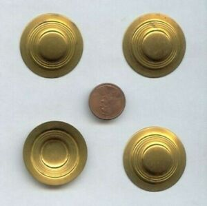 12 VINTAGE BRASS RAISED DECO 33mm. ROUND FINDINGS V798