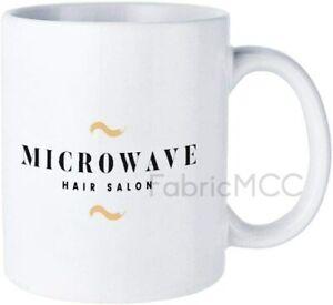 Funny Coffee Mug, Microwave Hair Salon Gold Mug