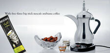 Arabic coffee maker (Automatic dallah) Stainless Steel +GIFT