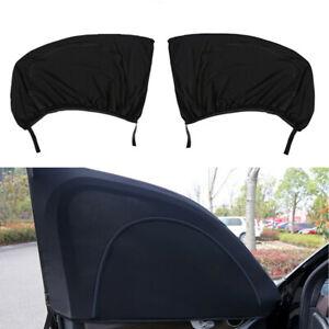 2PCS Windshield Sunshade Curtain Mesh for Car Front Window Sun Shade 49.2x19.6in