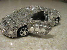 "AUDI  5 "" DIE CAST CAR BLING MIRRORED AIR FRESHNER PULLBACK MOTION VEGAS"