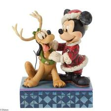 Disney Traditions Santa's Best Friend. Mickey Mouse & Pluto Figurine New In Box