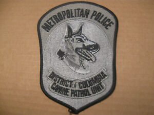 DISTRICT OF COLUMBIA K9 POLICE PATCH