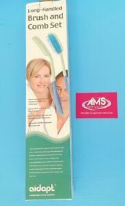 Aidapt Living Disability Aids Comfortable Extra Long-Handled Brush and Comb Set