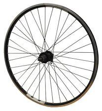 700c REAR ALL BLACK QR Cassette Disc Hub Double Wall Eyeletted Hybrid Bike Wheel